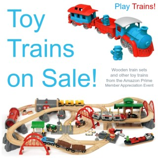 Toy Train Deals in the Amazon Prime Member Appreciation Event (through 9-6-15) -- these deals were truly too good to not share! Especially the lowest price I've ever seen on one of the best train sets ever. Get your Christmas shopping done early! (If you aren't an Amazon Prime member, you can sign up for a free trial.)