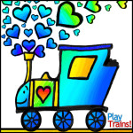 Free Printable Train Valentines