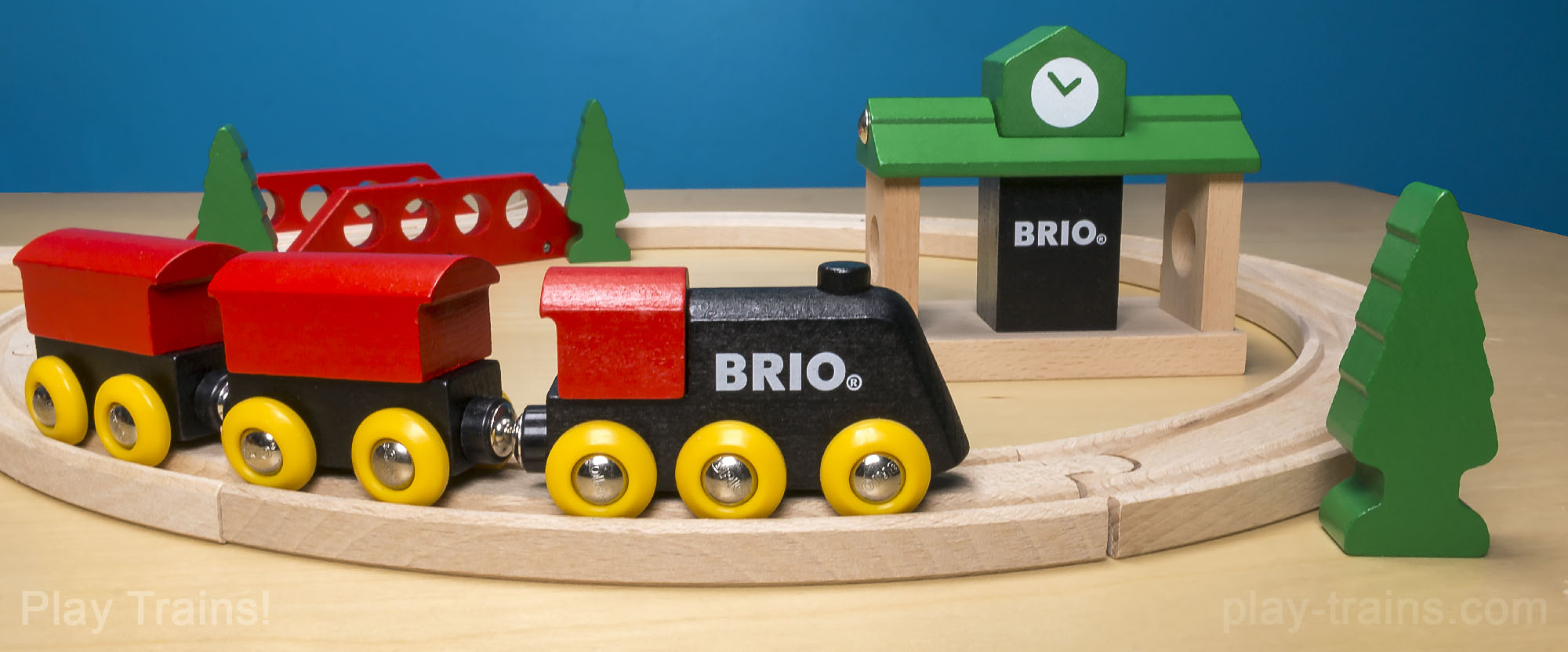 BRIO Classic Figure 8 Set -- The Play Trains! Guide to Wooden Train Sets: expert advice on the best wooden train set to buy for your little engineer.