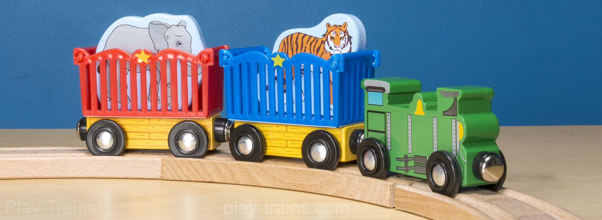 Melissa & Doug Zoo Animal Train Set  -- The Play Trains! Guide to Wooden Train Sets: expert advice on the best wooden train set to buy for your little engineer.