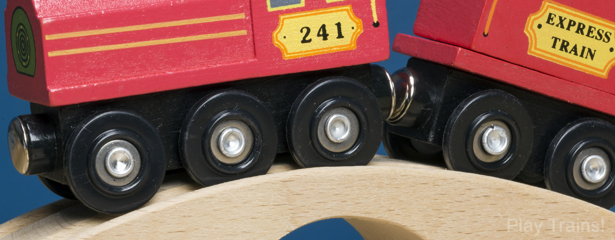 Melissa and Doug Wooden Train (wheels)  -- The Play Trains! Guide to Wooden Train Sets: expert advice on the best wooden train set to buy for your little engineer.