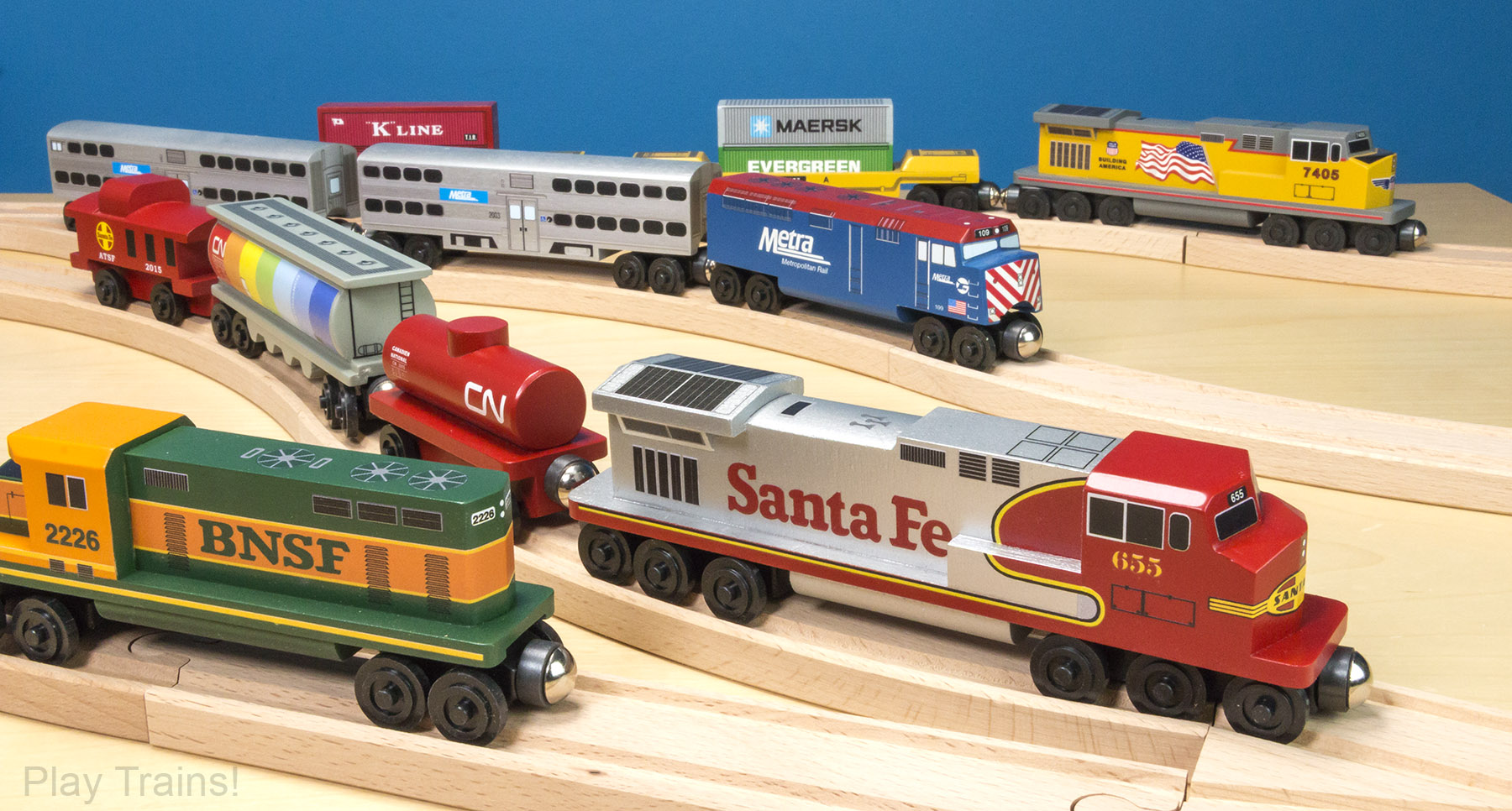 Whittle Shortline Railroad: realistic wooden trains