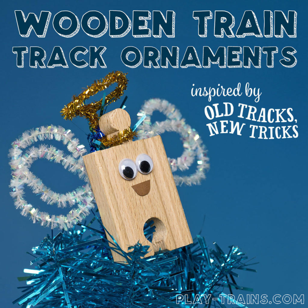 Book-Inspired Wooden Train Track Christmas Ornament