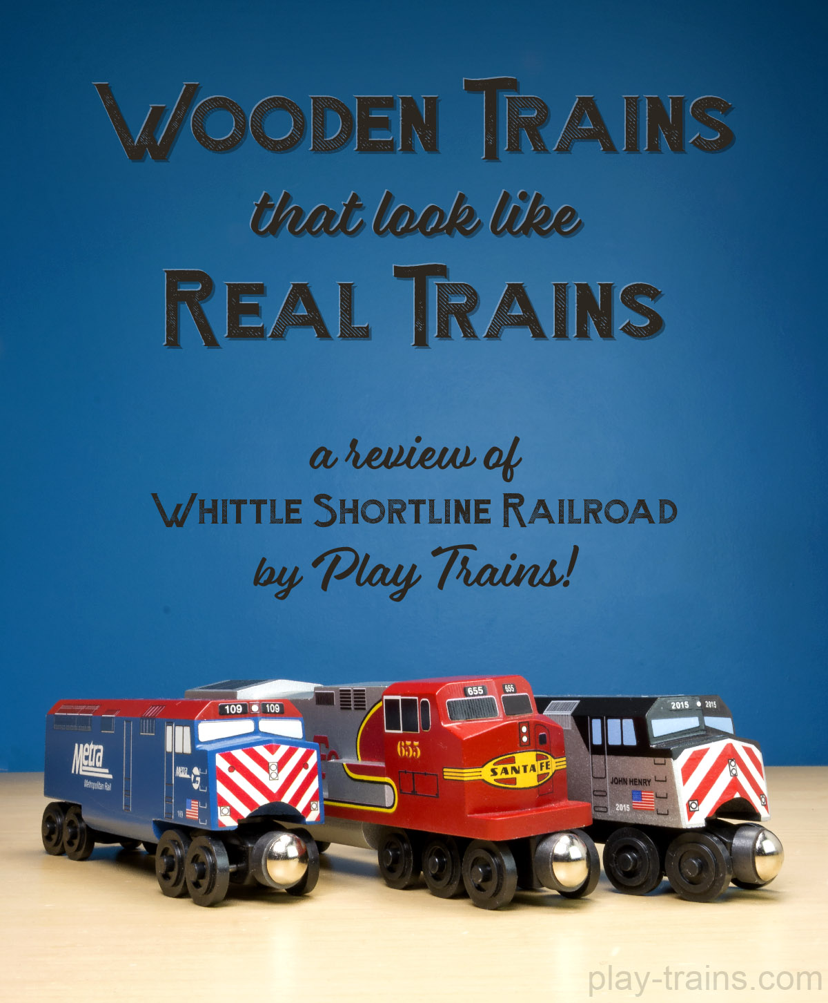 making wooden toy trains